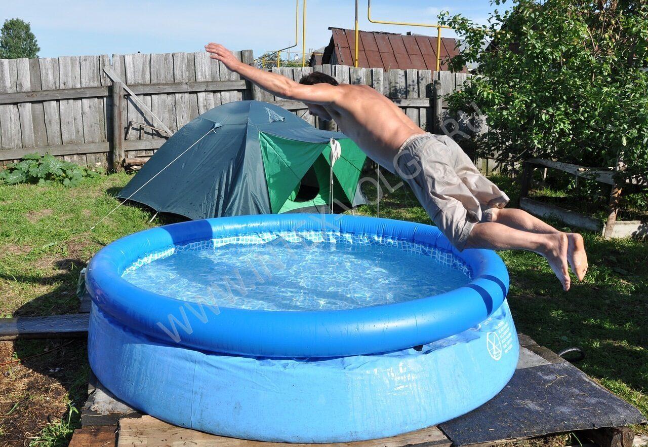 Горки в бассейн фото своими руками